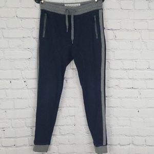 Aeropostale teen boys navy blue and gray sweatpant